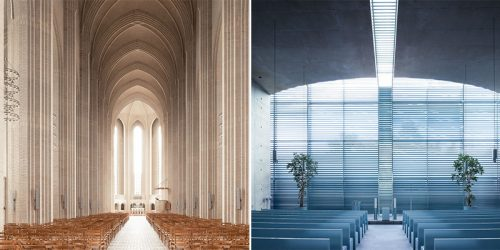"Thibaud Poirier Brings Us Awe-Inspiring Interiors of Modern Churches in His Series ""Sacred Spaces"""