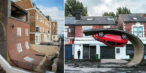 Alex Chinneck's Unique Mind-Bending Sculptures and Buildings