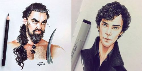 Russian Artist Draws Celebrities as Cartoons