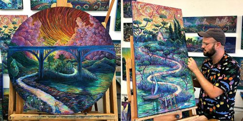 Dancing Colors Around the Canvas in James R. Eads Fantastical Artwork