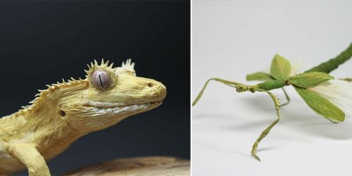 Hyper Realistic Insects, Animals, and Plants Made Out of Paper