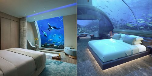 8 Underwater Hotel Rooms with Dreamlike View of the Ocean