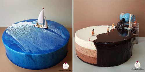 Pastry Chef's Magnificent Worlds on Cakes