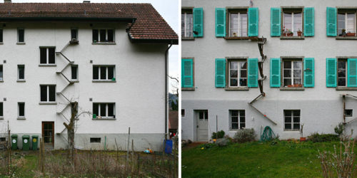 Cat Ladders – Homemade Exterior Found in Bern, Switzerland