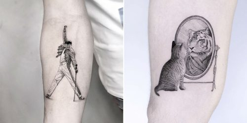 Impressive Hyper-Realistic Micro Tattoos by Celebrated Edit Paints