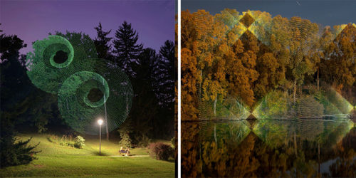 Illuminated Landscape Illusions – Light Installations by Javier Riera
