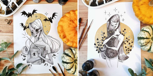 Inktober's Special – Eerie Yet Gorgeous Illustrations by Cacotte