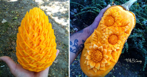 Behold the Mastery of Pumpkin Carving God – Angel Boraliev
