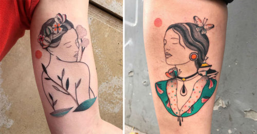 Graceful, Delicate, and Poetic – the Tattoos of Ani des Aubes