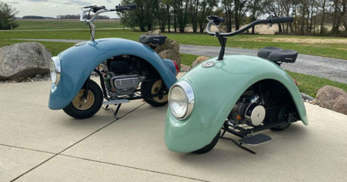 Volkspods – Custom Built 'Beetle' Motorcycles by Brent Walter