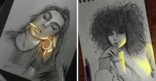Pencil Sketches Glowing with Life by Kike Bernal