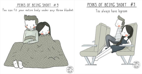 Three Under the Rain and Perks of Being Short Series