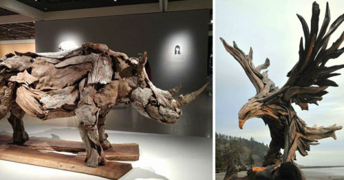 Knock on Wood and Jeffro Uitto – Creation of Marvelous Driftwood Sculptures