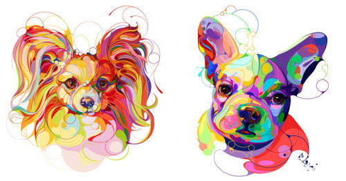 Kaleidoscope-Inspired Dog Portraits Full of Joyful Expressions