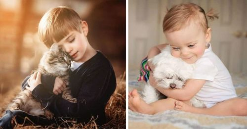 Delicate Photographs of Innocent Moments of Children with Animals