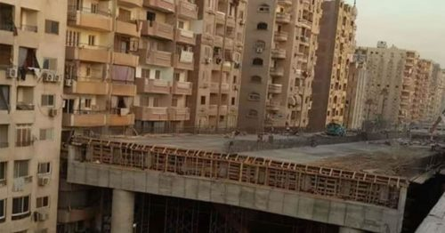 Catastrophic Highway Bridge Connected to the Residential Buildings In Egypt