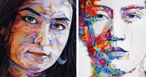 Have You Ever Seen 3D Paper Portraits Like These? Quilling by Yulia Brodskaya