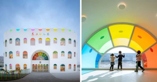 Kaleidoscope Kindergarten – Giant Marshmallow with Round Rainbow Windows