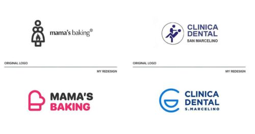 Top 9 World's Worst Logos Redesigned by Emanuele Abrate