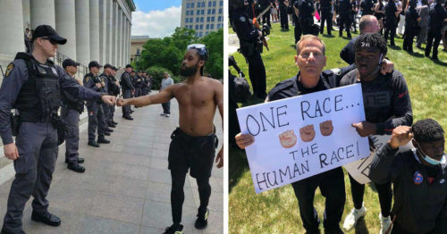 George Floyd – Protesters and Police United Against Racism – Shaping a Better World