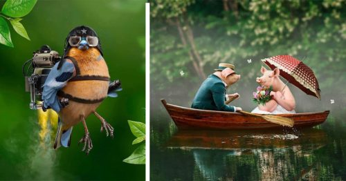 Whimsical Animals in Wonderfully Peculiar Digital Worlds by Jean-Charles Debroize