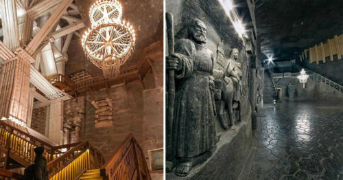Wondrous Wieliczka Salt Mine – Entire Giant Underground Structure Carved Out of Salt