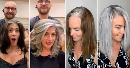 From Grey Roots to Beautiful Silver Polished Hair – Makeover by Jack Martin