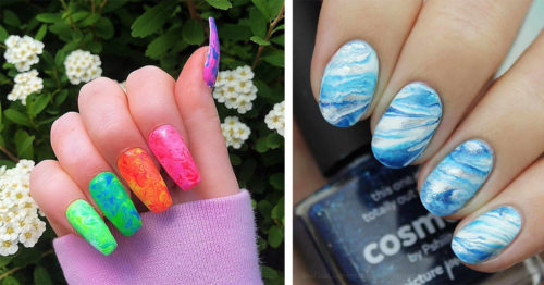23 Marble Nail Art Ideas with Wow Effect