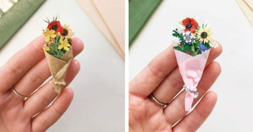 Tiny Paper Flower Bouquets – Delicate Ever-Blooming Creations