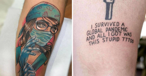 The Most Brilliant COVID-19-Themed Tattoos So Far