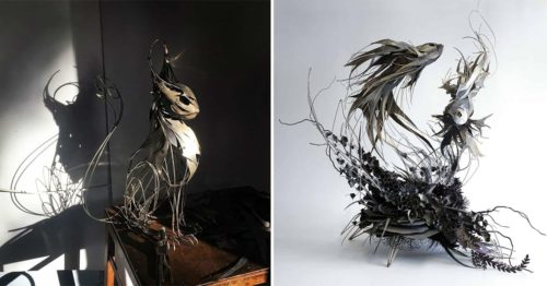 Award-Winning Artist Builds Epic Sculptures from Pieces of Cut Metal Sheets