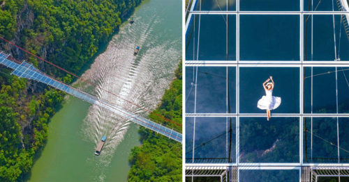 World Record – Longest Glass-Bottom Bridge on a Planet