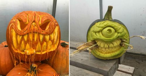 Giant Monster Jack-o'-lanterns That Will Blow Your Minds [and Brainz]