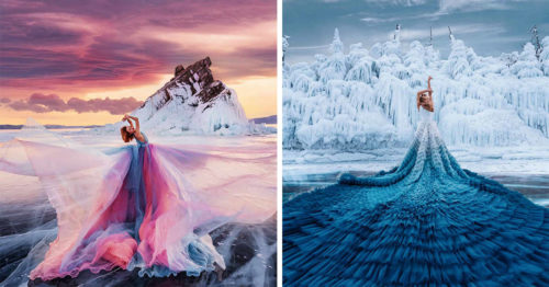 Kristina Makeeva's Epic Lake Baikal Photoshoot