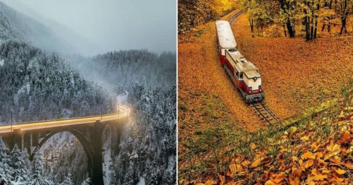 Train Driver Spends 5 Years Photographing Trains in Magnificent Places