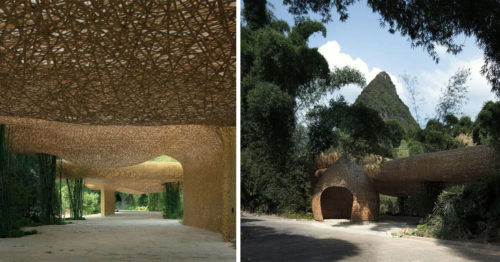 Heaven on Earth – Hand-Woven Bamboo Canopy Designed by Lllab. Architects