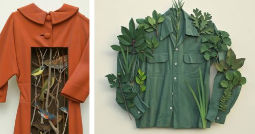 Poetic Designs Made Out of Vintage Clothing, Plant Materials, and Found Objects by Ron Isaacs