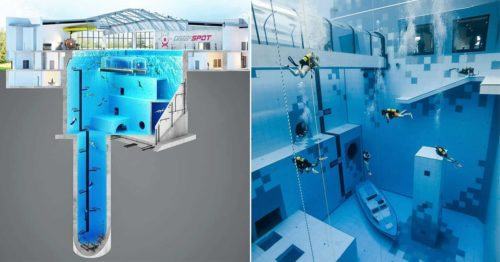 """The Deepest Diving Pool in the World – """"Deepspot"""""""