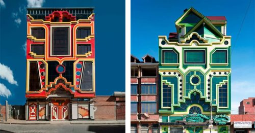 Incredible Ongoing Colorful Modernization of City El Alto by Architect Freddy Mamani