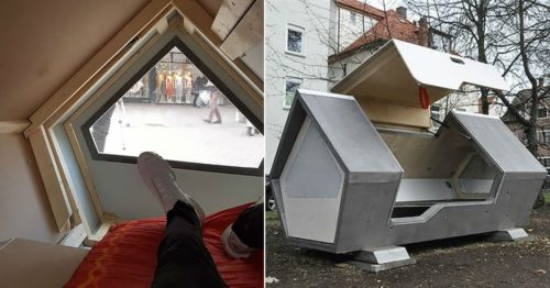 "Sleeping Pods ""Ulm Nester"" – Protect Homeless People From Frostbite"