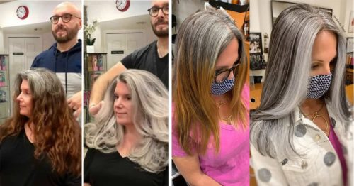Jack Martin Colorist Showcases How Beautiful Natural Gray Hair Actually Is