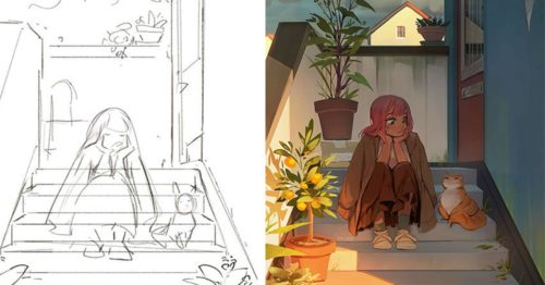 Sketch Vs Final – Artists Unite As They Share Their Before & After Artworks